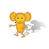 Funny cartoon mouse