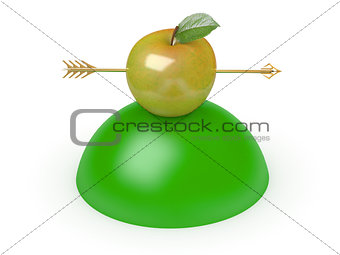 Arrow through apple