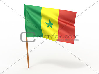 flag fluttering in the wind. Senegal