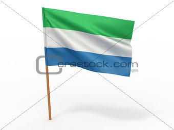flag fluttering in the wind. Sierra-Leone