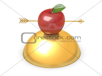 Arrow through apple