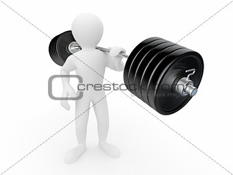 Men with barbell