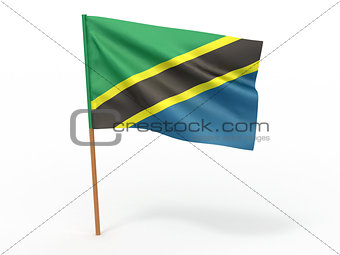 flag fluttering in the wind. Tanzania