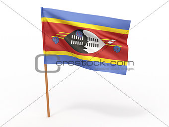 flag fluttering in the wind. Swaziland