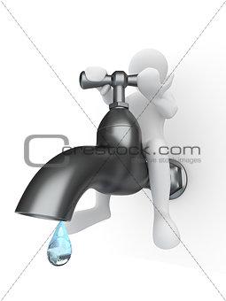 Men and tap