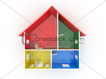 Abstract plan of home