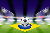Soccer ball, Brazil flag