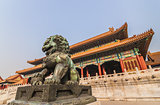 Chinese lion in the forbidden city, Beijing