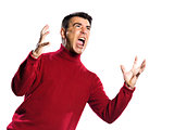 caucasian man anger gesture