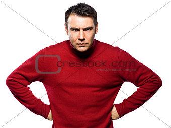 caucasian man attitude