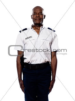 Portrait of policeman in uniform