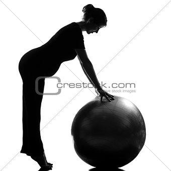 pregnant woman fitness workout pilates