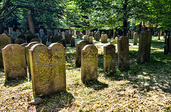 The Jewish cemetery in  Copenhagen, Denmark