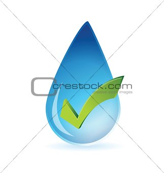 clean water approval illustration design
