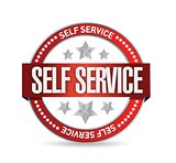 self service seal stamp illustration design