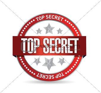 top secret seal stamp illustration design