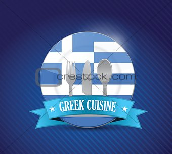 greek food restaurant concept illustration
