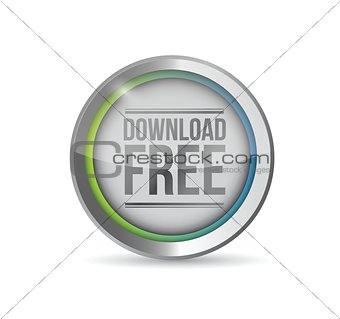 download free button illustration design