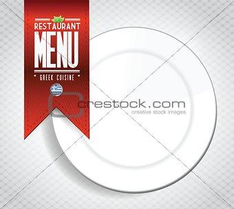 greek cuisine banner and restaurant illustration