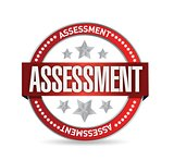 assessment seal stamp illustration
