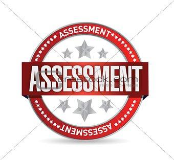 assessment seal stamp illustration