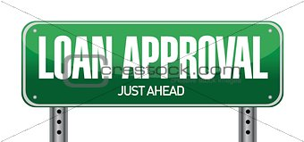 loan approval road sign illustration