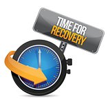 time for recovery concept illustration