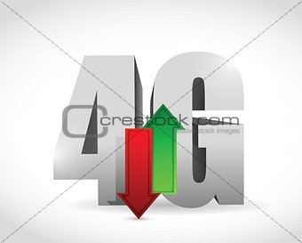 4g connection. illustration design