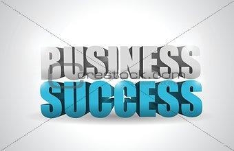 business success text illustration design