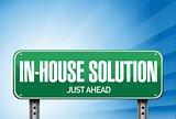 inhouse road sign illustration design