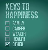 keys to happiness illustration design
