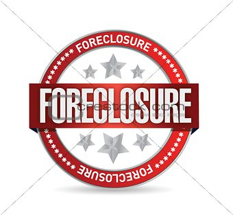 foreclosure seal stamp illustration design