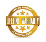 lifetime warranty seal stamp illustration