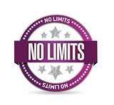 no limits seal stamp illustration design