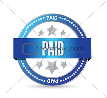 paid seal stamp illustration design