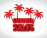 summer sale sign illustration design