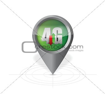 4g pointer locator illustration design