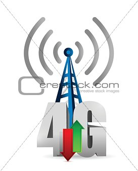 4g tower connection illustration design