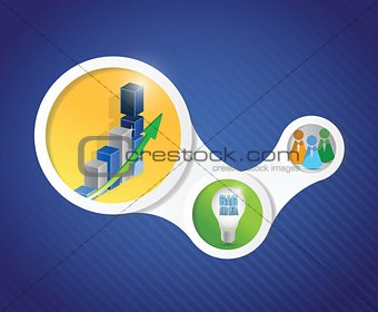 business diagram infographics illustration design