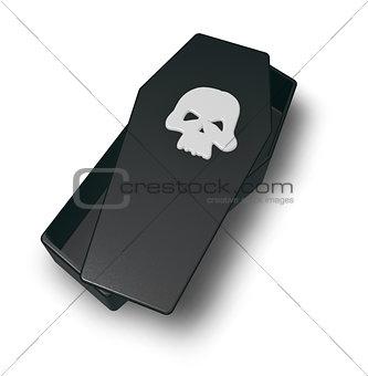 skull coffin