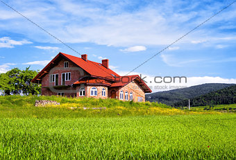 New house in the mountains