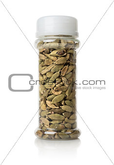 Cardamom in a glass jar