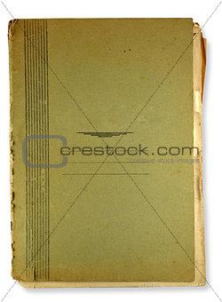 old green folder