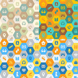 Internet Cells Seamless Pattern