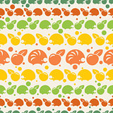 pattern with hedgehogs and apples