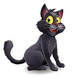 Cute Halloween Witches Cat Cartoon