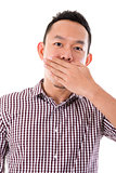 Asian businessman get shock