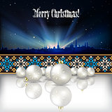 Abstract celebration background with Christmas decorations
