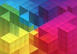 Abstract geometric background, vector