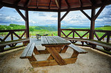 Wooden picnic place